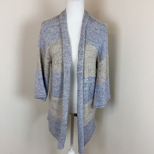 led Chunky Knit Open Front Maternity Cardigan NWT